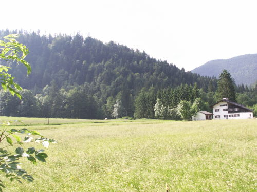 Haus und Sommerwiesen rundherum