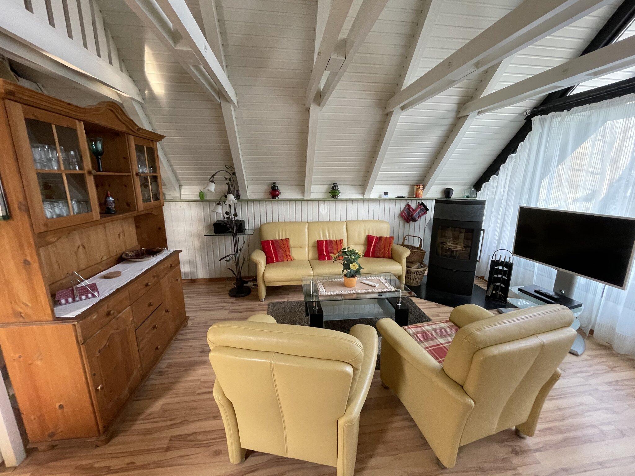 Sitzbereich Wohnzimmer EG mit Kamin