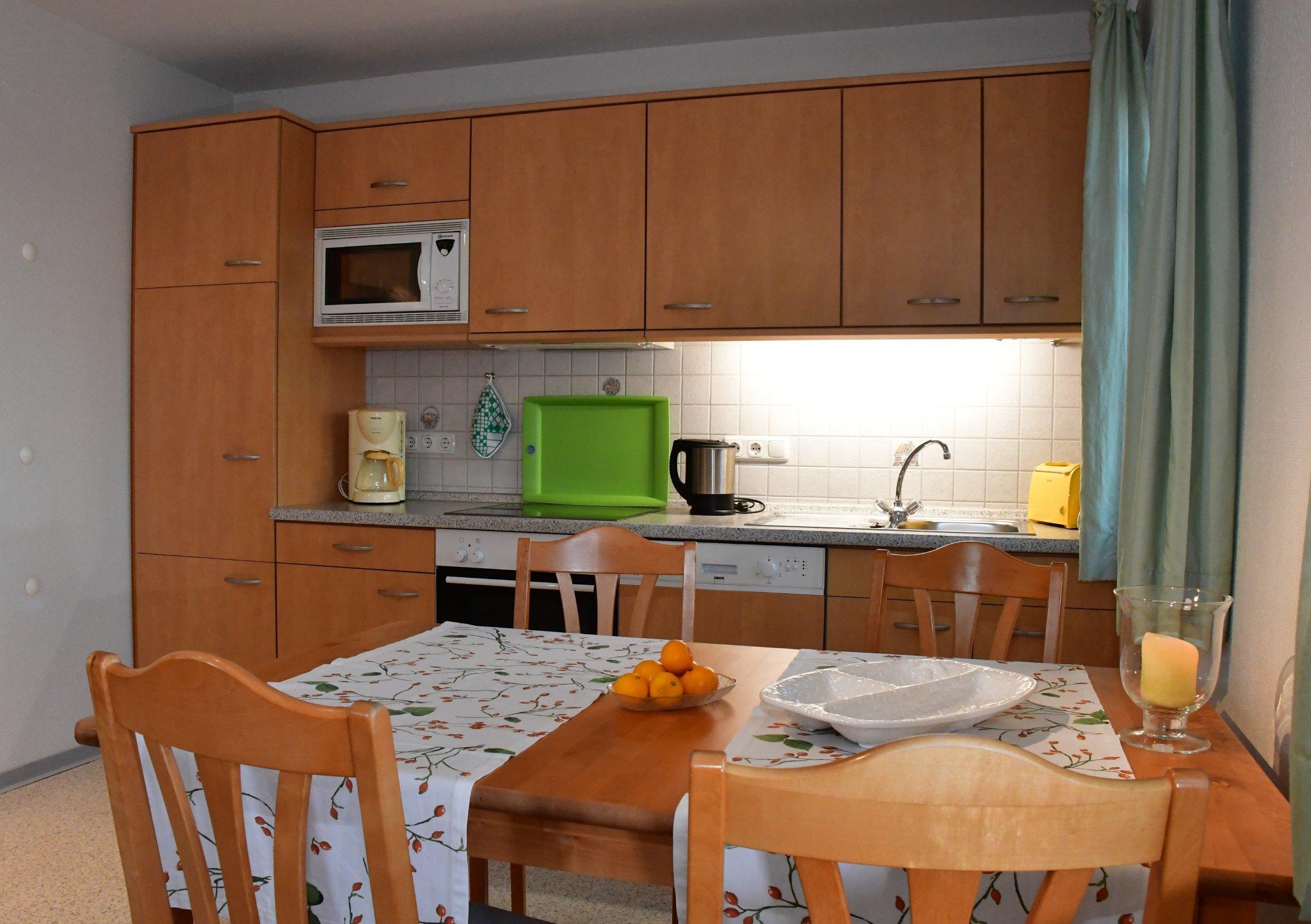 Küche blaue Wohnung