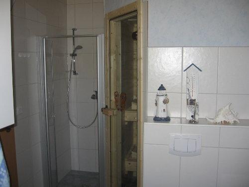 Dusche und Sauna unten