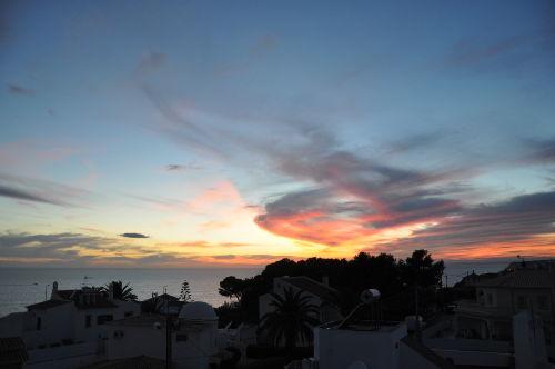 Sonnenuntergang, Sicht von Dachterrasse