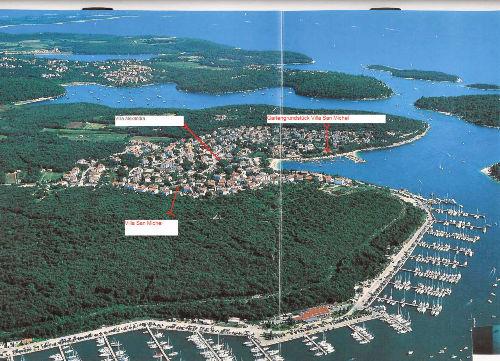 Lage von Villa San Michel in Istrien