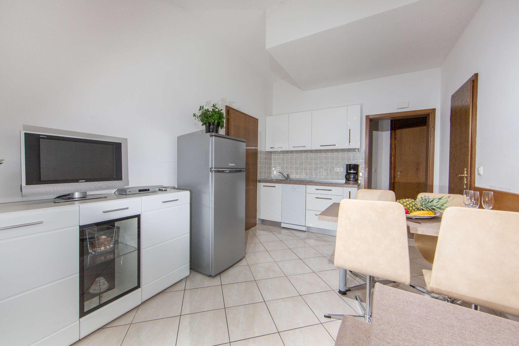 Küchenansicht der Ferienwohnung
