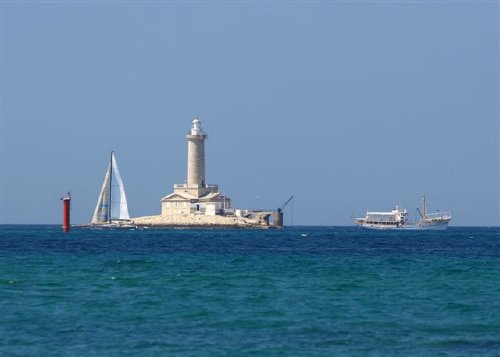 Leuchtturm an der Südspitze von Istrien