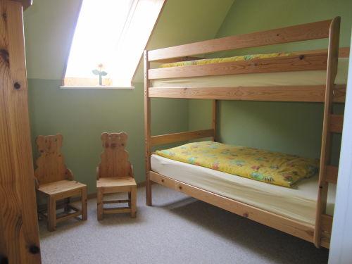 das Etagenbett im grünen Zimmer.
