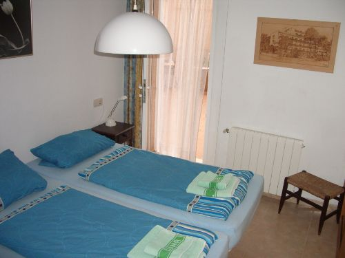 Schlafzimmer zum Patio