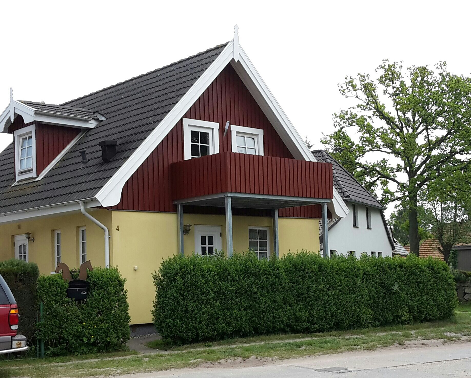Schwedenhaus in traditioneller Farbe