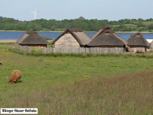 Hier in Haithabu lebten die Wikinger