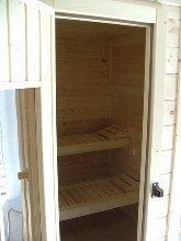 eingebaute Sauna im Badezimmer