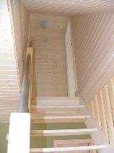 Treppe zu den oberen Schlafräumen
