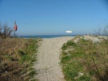 Strandzugang im Ortsbereich