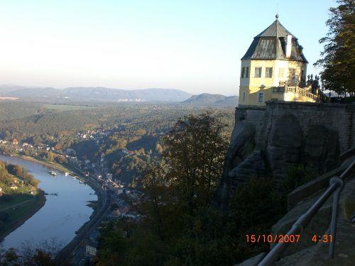 Elbtal von der Festung Königstein