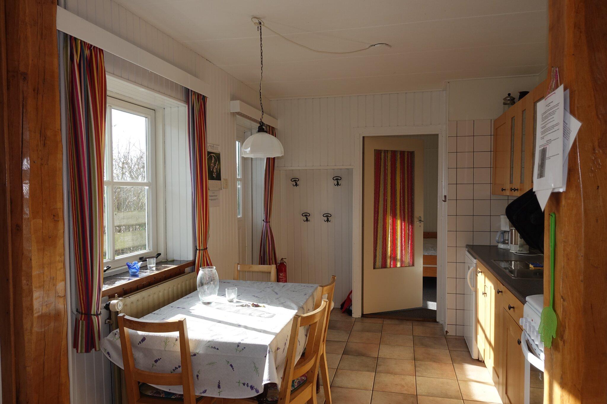 Küche mit Blick aufs untere Schlafzimmer