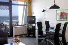 Wohnzimmer der Ferienwohnung Nr. 206