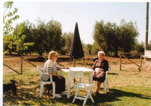 Gartenplatz vor dem Olivenhain