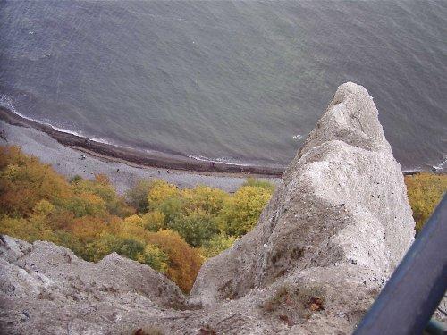 Tief unten ist die Ostsee