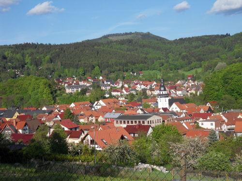 Blick auf Steinbach- Hallenberg