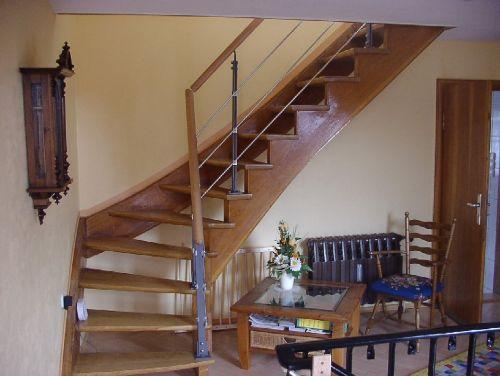 Treppenaufgang zum Dachzimmer