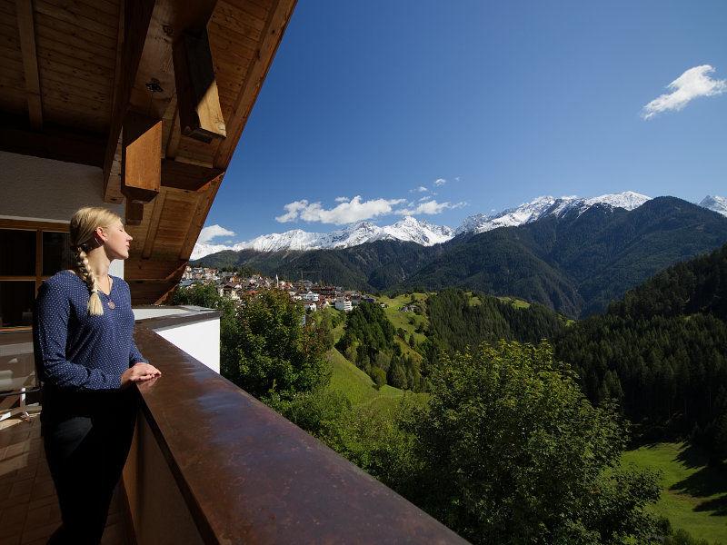 Blick vom Balkon