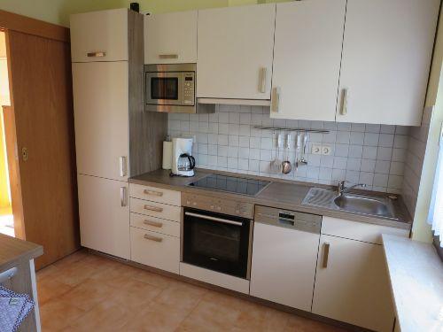 Die neue Küche mit Mikrowelle