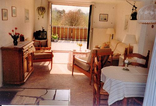 Ferienwohnung Wohnraum zur Terrasse