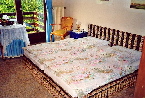 Doppelzimmer mit Balkon Gartenseite