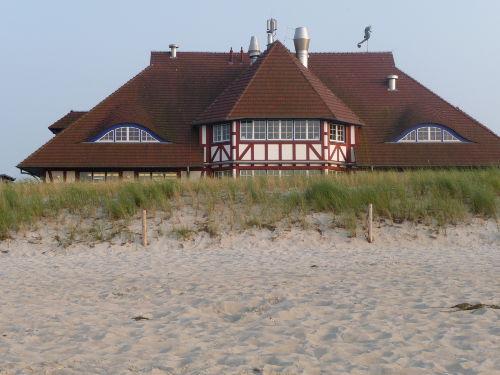 Das Kurhaus vom Strand aus gesehen