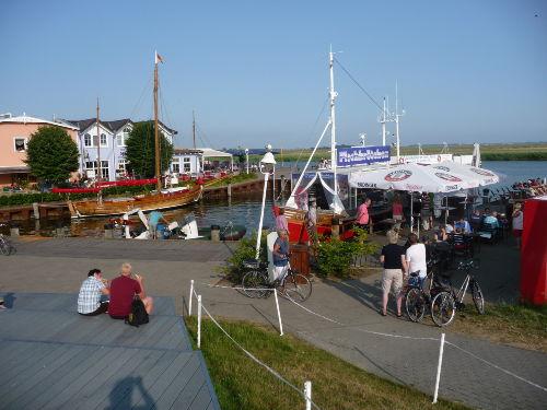 Fischbude am Hafen