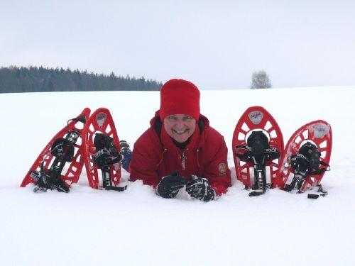 Winterspaß mit Schneeschuhen