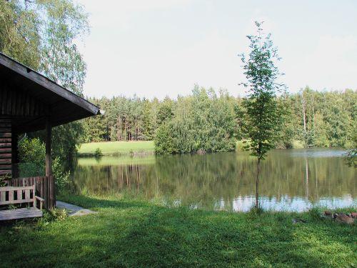 Unsere Fischerhütte am Steinweiher