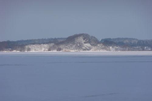 Die zugefrorene Schlei im Winter