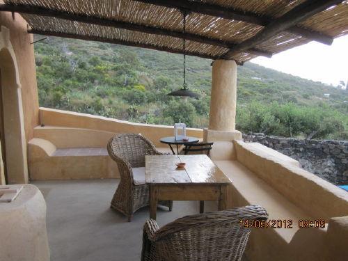 Terrasse des Hauses mit 2 Zimmern