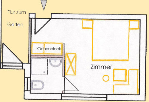Apartment Typ 1 (f�r 2 Personen)