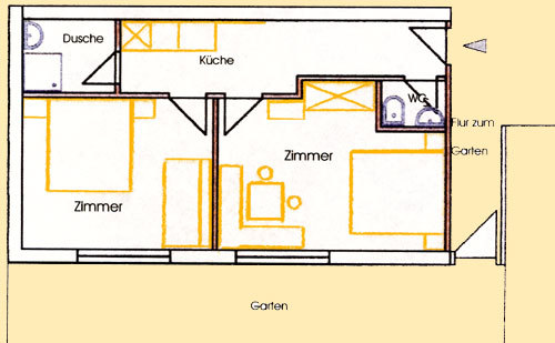 Apartment Typ 3 (f�r 4 Personen)