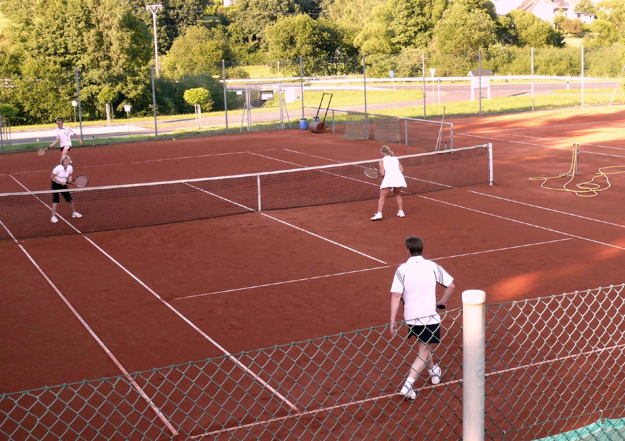 2 Tennisplätze ca 100 m vom Haus