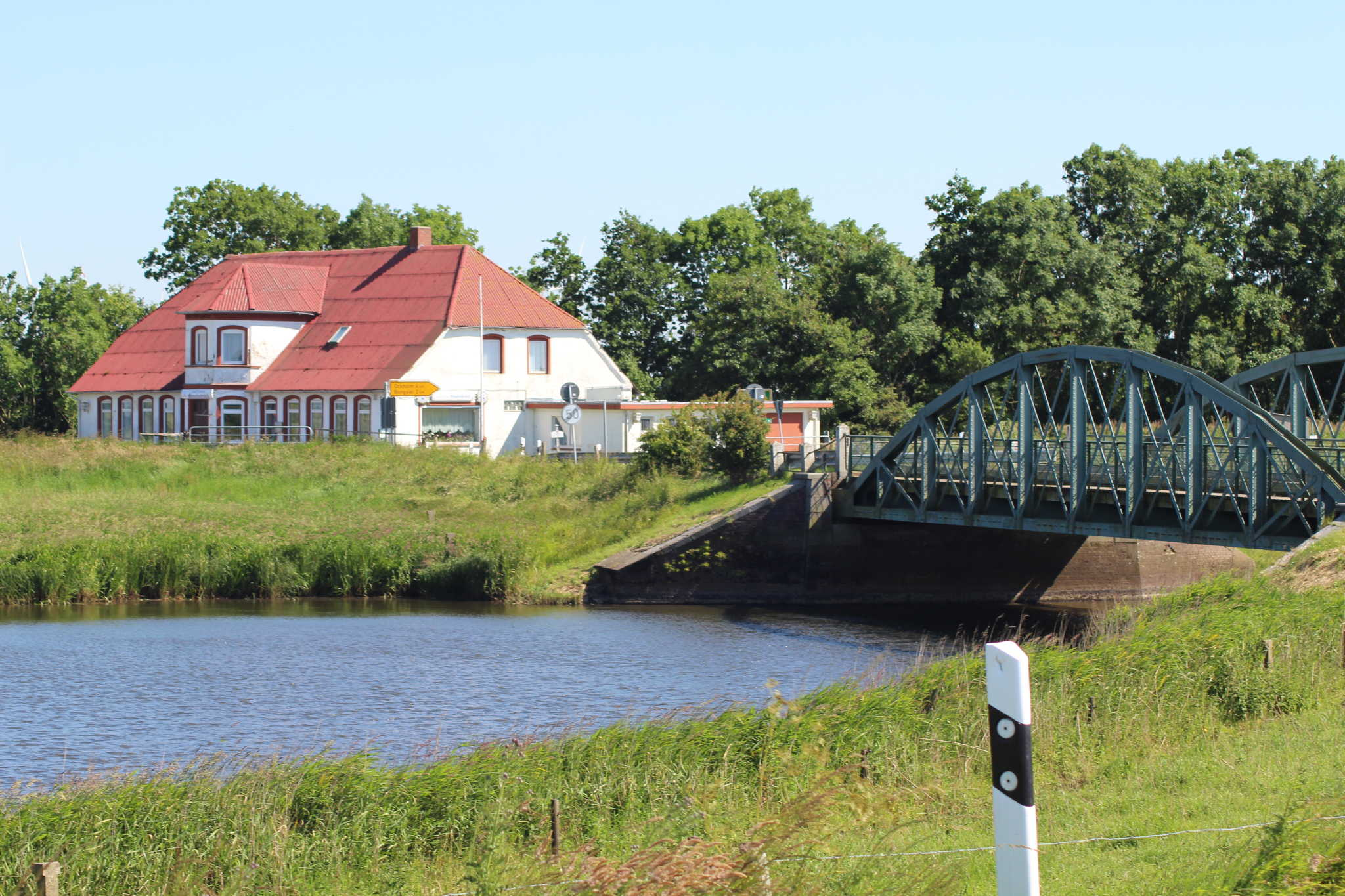 Der Bongsieler Kanal , ideal zum Angeln.