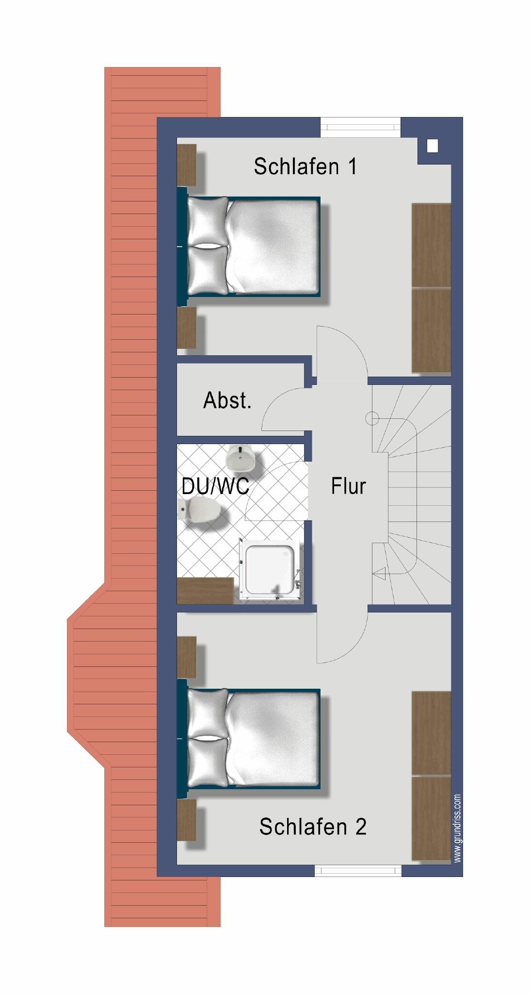 Wohnraum m. Kamin u. Terrasse