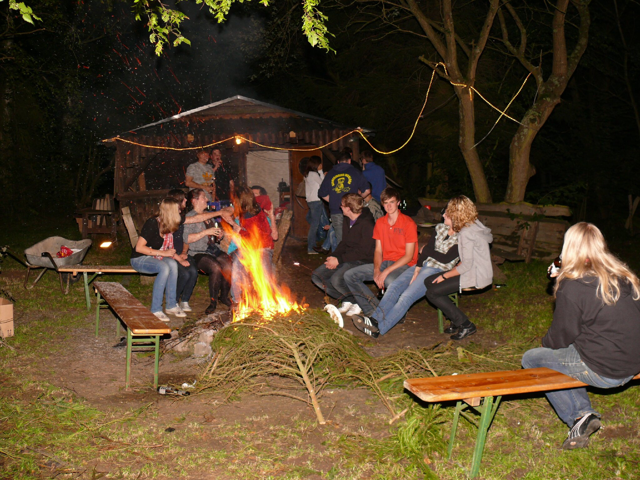 Party an unserer Grillh�tte