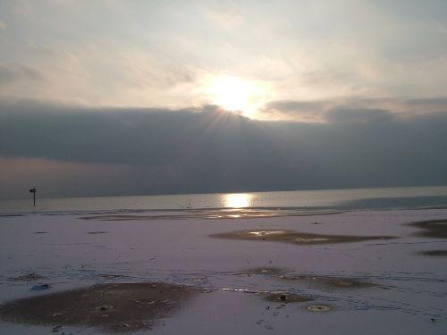 Sonnenuntergang zwischen N-horn u.W-burg