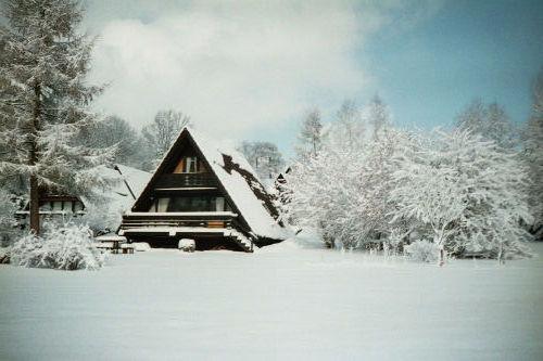 Südseite des Hauses im Winter