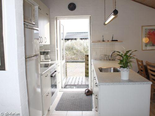 Offene Küche im Tingodden Strandhus