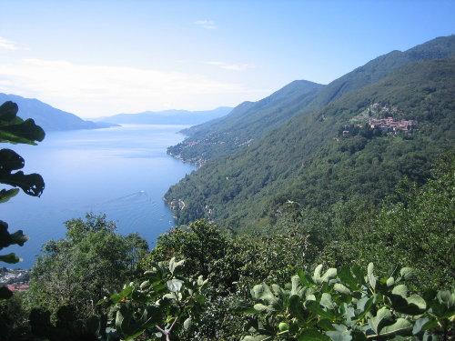 Aussicht auf das Dorf Oggiogno
