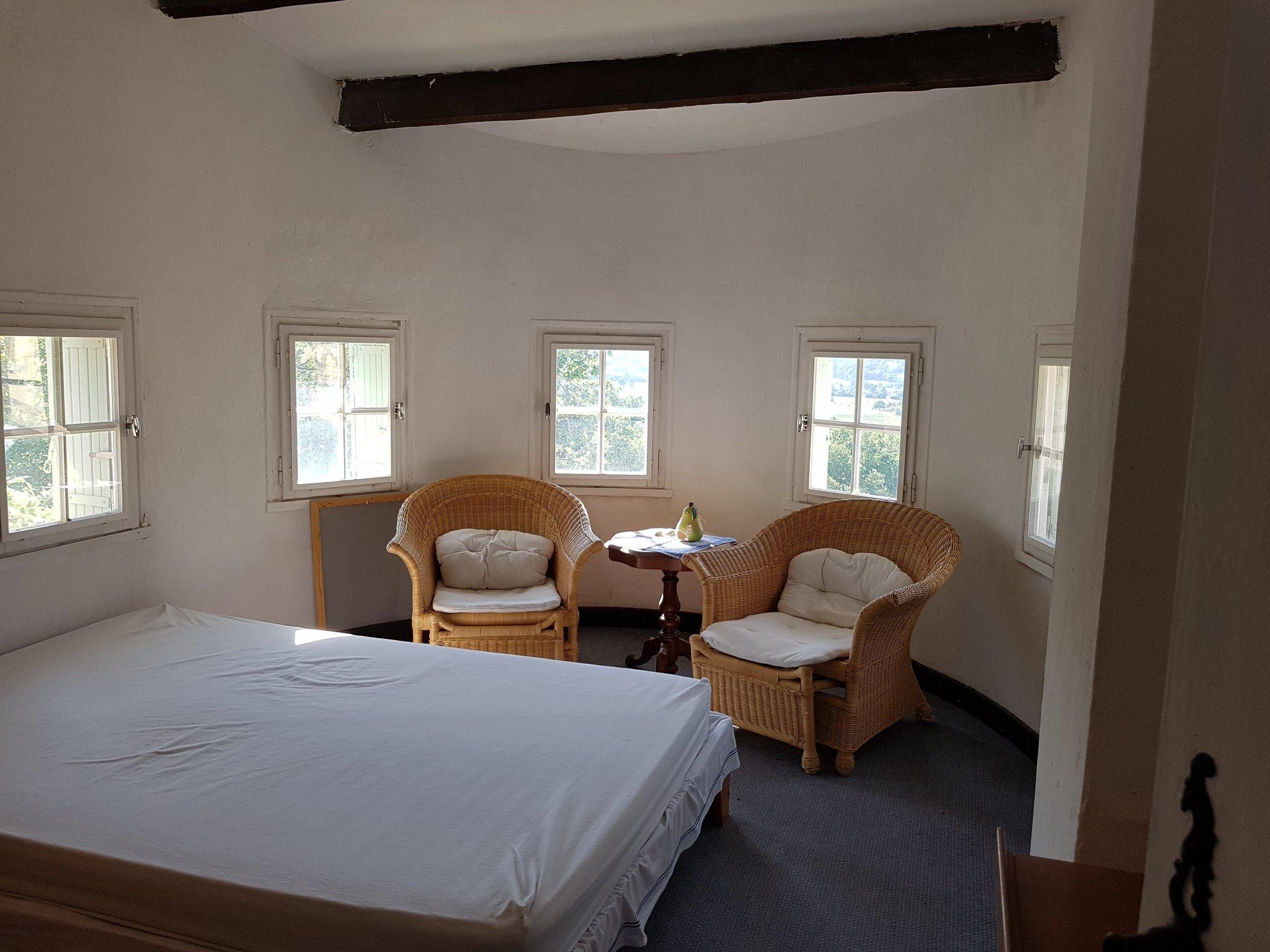 Schlafzimmer im Turm
