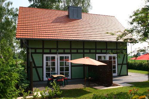 Terrassenansicht Ferienhaus Hagebutte