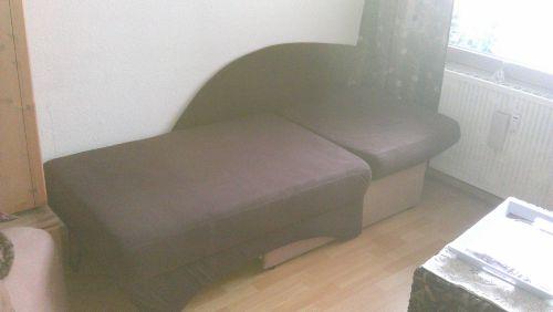 ausgezogene Couch