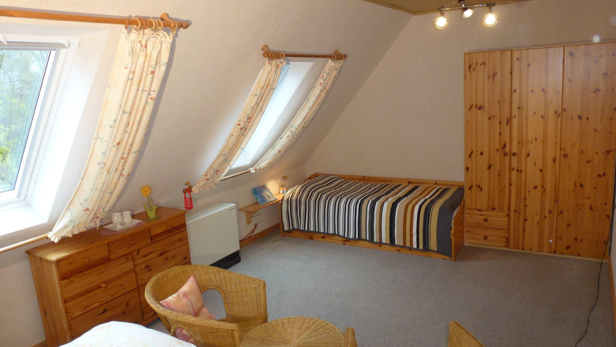 Großes Schlafzimmer der Ferienwohnung 1