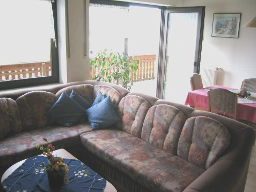 ger�umiges Wohnzimmer mit Essplatz