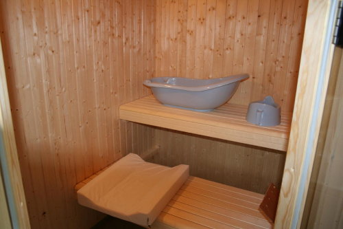 nach der Sauna