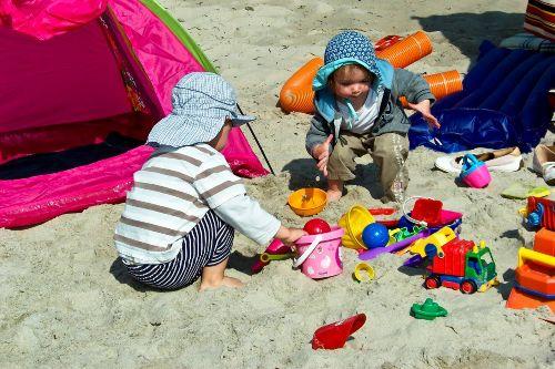 Spielspaß am Strand