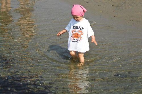 Planschen im Wasser